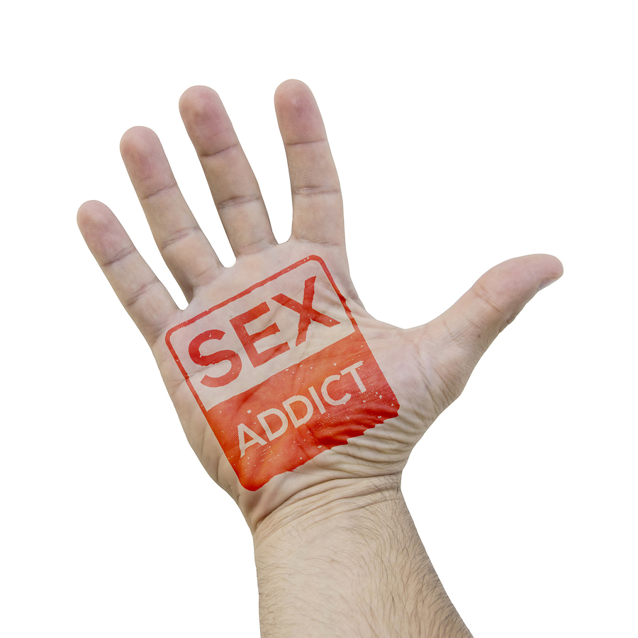 SEX ADDICT stamp